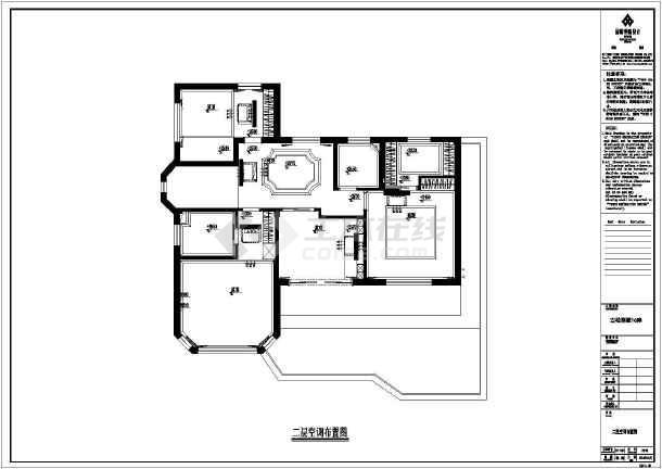 【北京】某高档别墅装修设计施工图都昌平福州哪些有别墅图片