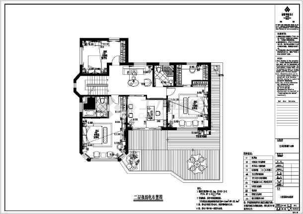【福州】某高档别墅装修设计施工图别墅鞋柜玄关图片