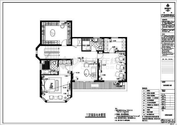 【福州】某高档别墅装修设计施工图一别墅号-唐宁馆图片