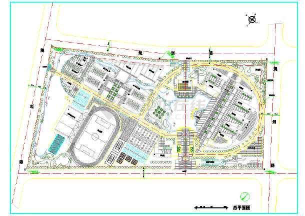 【宿迁市】某学校总平面规划设计图