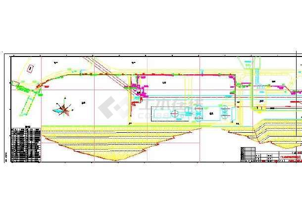 4x600mw电厂工业水管道cad平面图(共4张)图片1