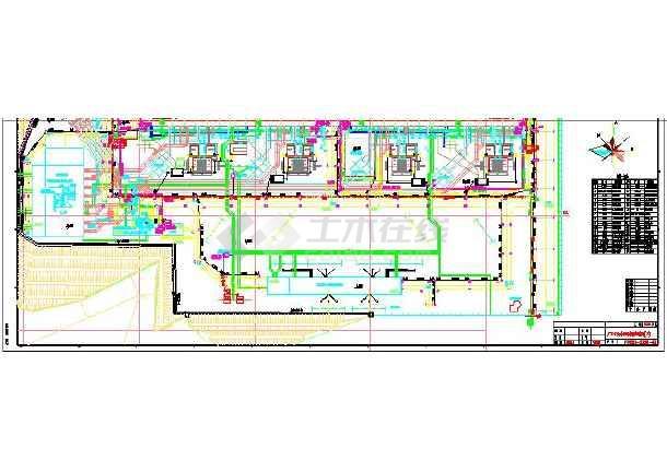 4XX600600MW电厂管道水工业CAD平面图(共4张)dw干燥机cad图图片
