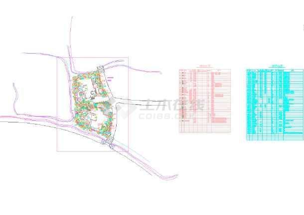 植物喷泉别墅cad景观设计双拼(图纸多)_cad图手绘别墅效果图庭院图片