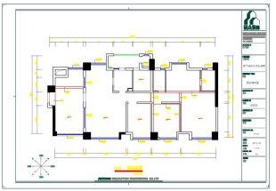 某三室两厅室内装修设计全套cad施工图(含电气约束cad图片
