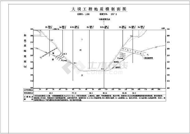 图纸 水利工程设计图 大坝堤防 其他工程 某处小型水库除险加固初步设