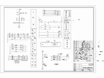 水电站电气主接线图及发电机控制原理图