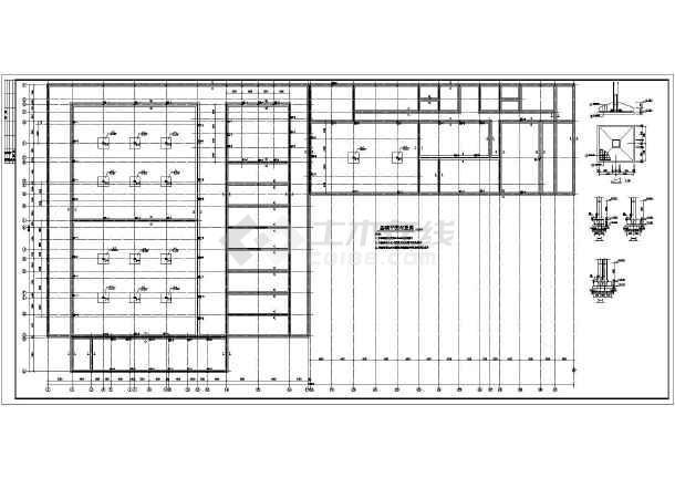 某大型单层冷库砌体结构设计施工图纸