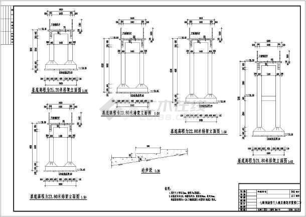某水利工程水库输水涵管结构布置图_cad图纸下载-土木