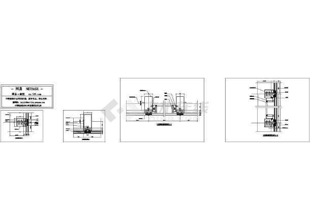 隐框玻璃幕墙板标准图纸图_cad深度下载规范节点图纸图片