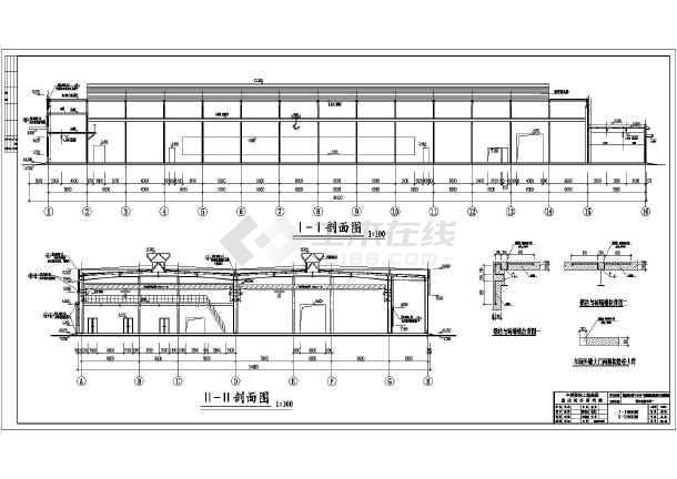 国家某检测基地钢结构厂房建筑,结构施工图