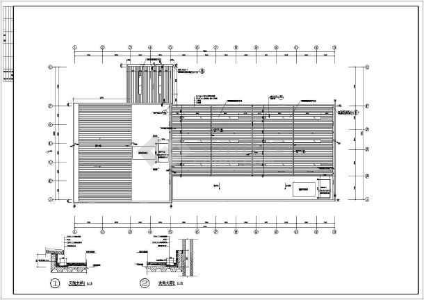 衡阳市两层框架结构汽车4s店建筑设计扩初图