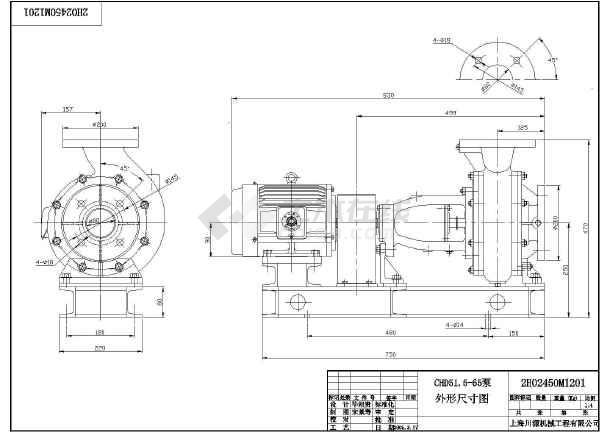 台湾设计川源泵CHD系列CAD全套尺寸图纸图cad如何大小视口调节图片