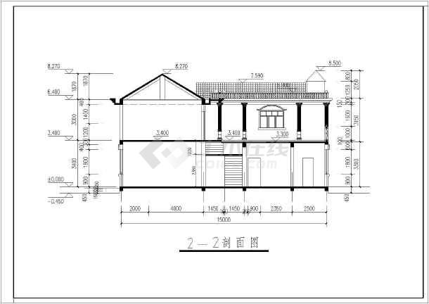 某地二层简欧式别墅建筑方案设计图