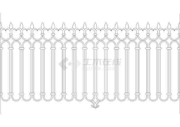20中铁艺栏杆设计及20中花纹样式详图
