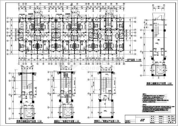某十二层单元式住宅楼建筑设计施工图