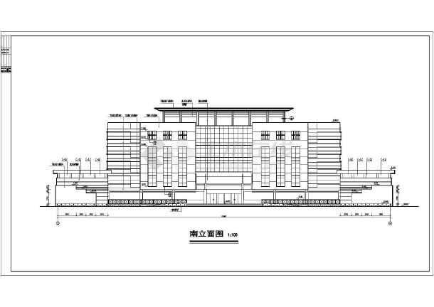 某地6层混凝土框架结构办公楼建筑施工图纸