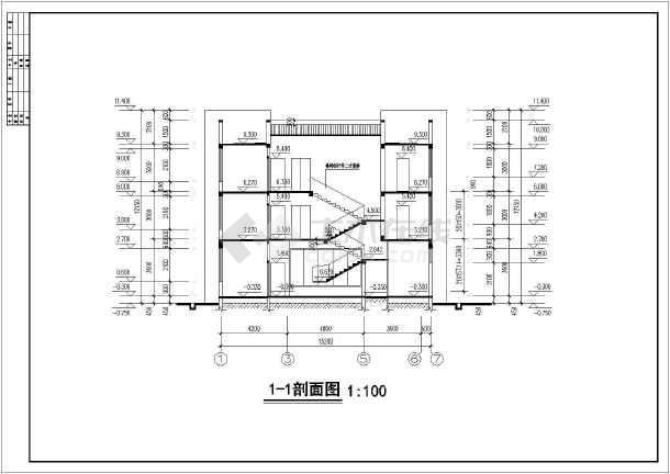 某地三层砖混结构别墅建筑设计施工图纸