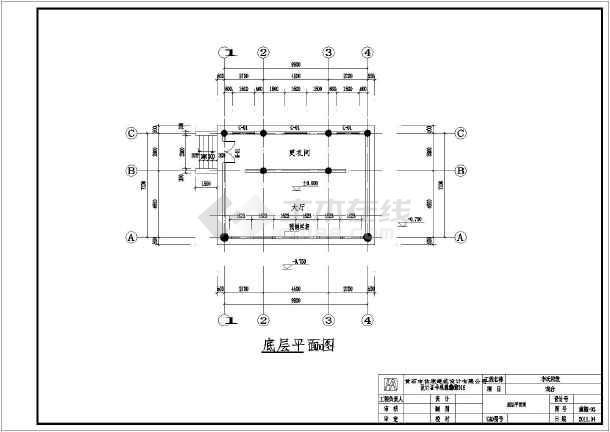 某仿古建筑(图纸、祠堂、方案)建筑设计展厅图戏台牌楼床垫v图纸图片