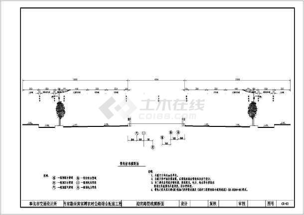 某城市市政道路管线断面工程设计图