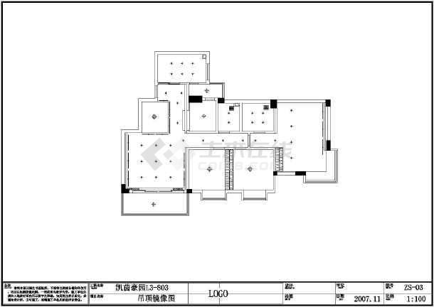 图纸 装修设计 家装设计 三室两厅装修图 某小区单元住宅室内装修全套