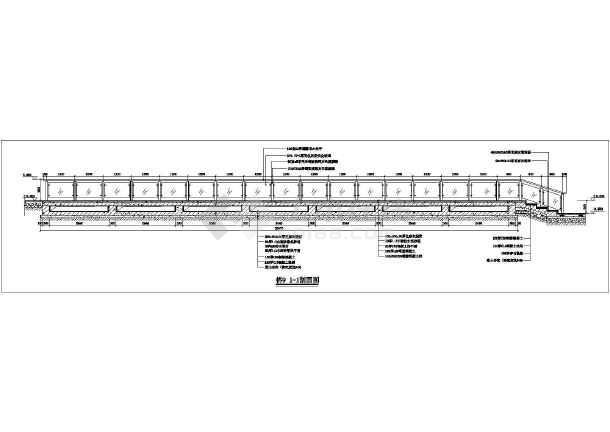 某混凝土加钢结构景观桥全套施工图纸