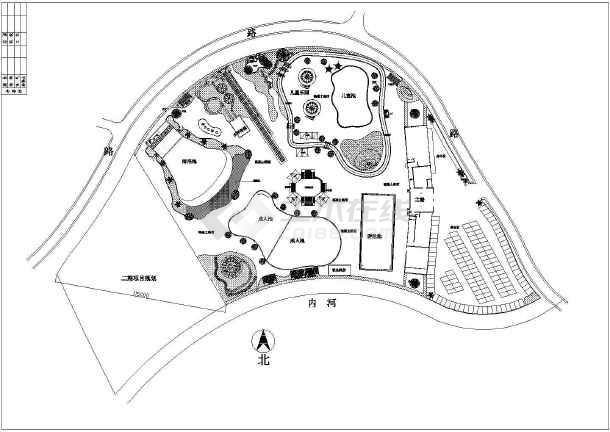 小公园设计平面图 小公园设计 小公园快题设计  所属分类:居住区绿化