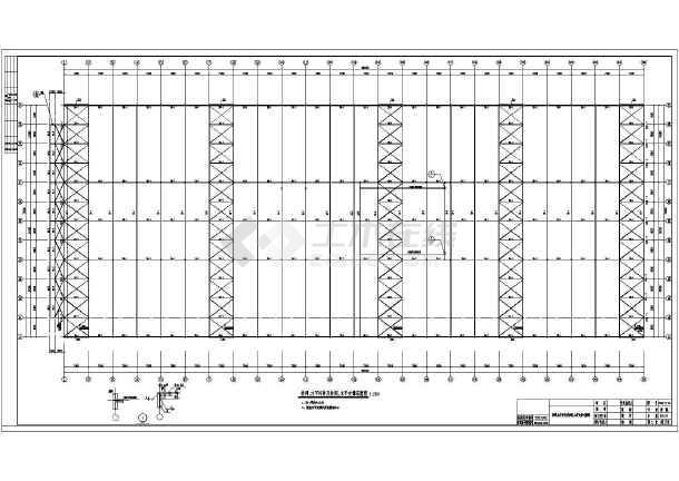 图纸 建筑结构图 厂房结构设计 轻钢结构厂房 钢结构带空中走廊厂房