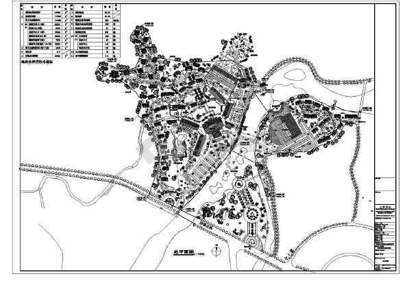 别墅,规划总平面图