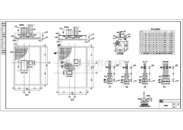 底层钢柱布置图,支撑大样,预埋布置图,屋面结构布置图,剖面图,大样图