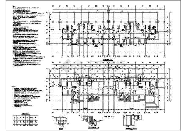 海某高层剪力墙条形基础全套施工图图片