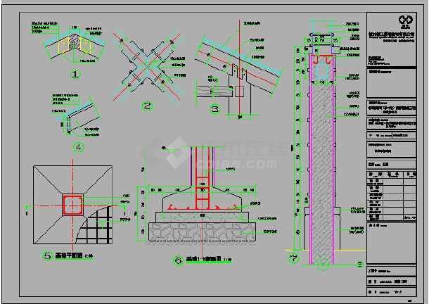 某地小区景观凉亭全套建筑设计施工图