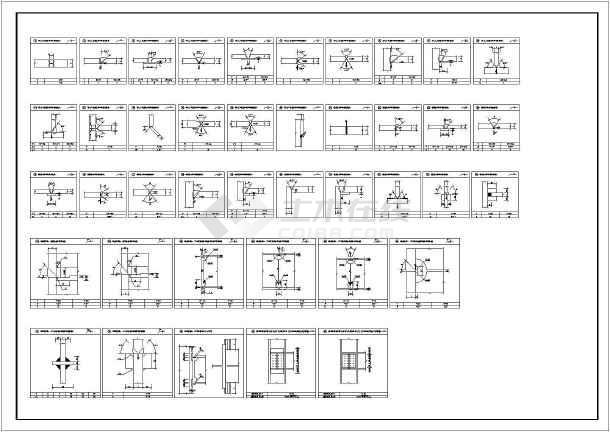 某办公楼室外复制消防钢梯结构图_cad图纸下cad图纸符号不能增设中图片