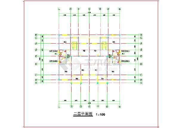 某单体别墅给排水电气设计cad施工图