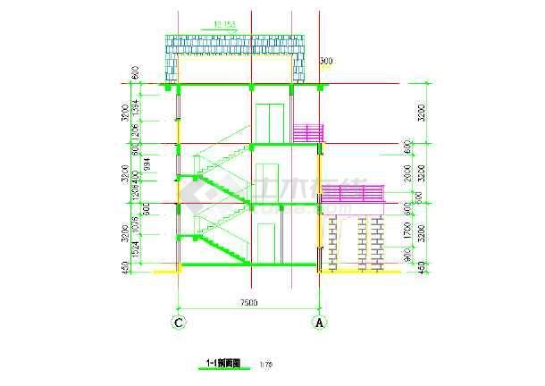 【金华】某三层楼别墅建筑设计施工图纸