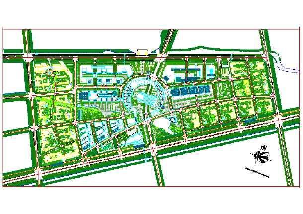 某大学校园景观规划设计(共一张图)图片