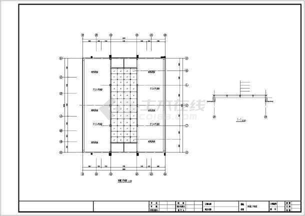 钢结构玻璃雨棚施工图