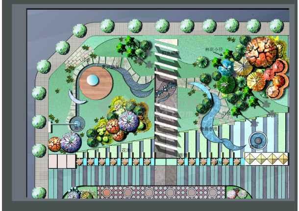 小别墅设计手绘图全套景观小品手绘图花坛设计手绘图