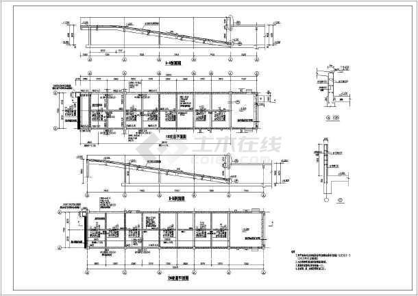 图纸 建筑结构图 结构说明大样图块 结构节点大样 舟山人防项目详图及