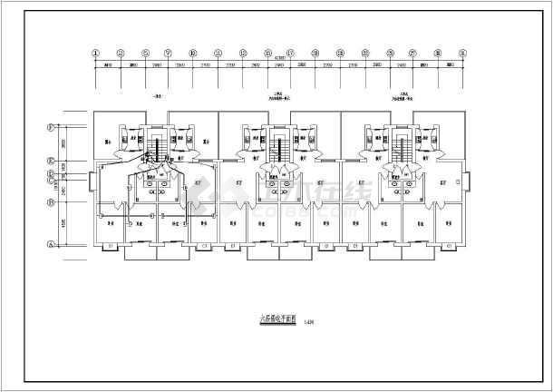 某小区六层居民住宅楼电气设计施工图图片