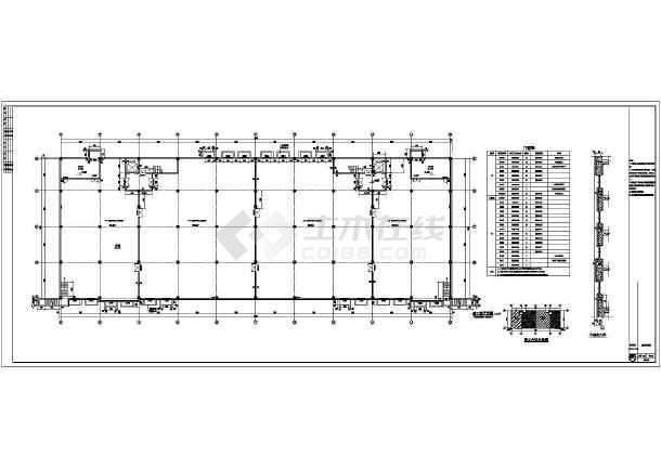 某地四层钢筋混凝土框架结构丙类针织厂房建筑施工图