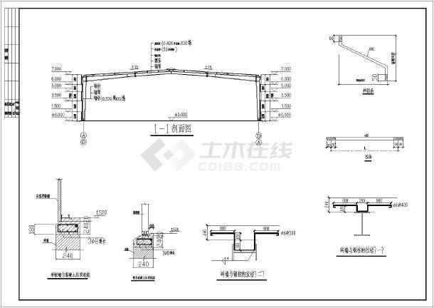 屋顶平面布置,立面布置图,剖面图,节点大样图;结构图纸有:钢结构设计