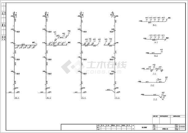 某图纸5层教学楼给排水平面图横向图_cad系统cad2008中学打印设置图片
