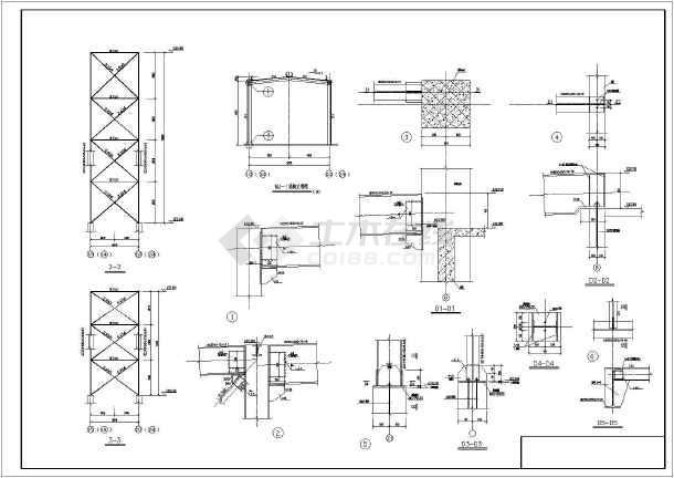 某煤矿图纸机结构图纸v煤矿皮带_cad图纸普通滤池栈桥图片