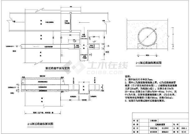 土地整理项目单体工程结构钢筋图