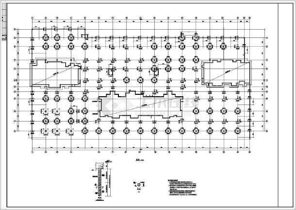 某市2层框架结构地下停车库(无梁楼盖)全套结构施工图图片3