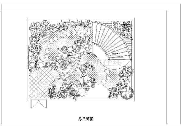 图纸 园林设计图 景观规划设计 庭院景观规划设计图 三种花园庭院景观