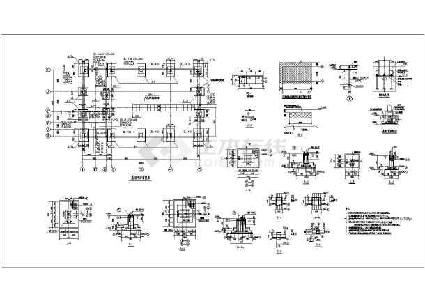 图纸 建筑结构图 钢结构图纸 门式刚架 某地双坡单跨轻型门式钢架厂房