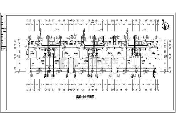 某地多层住宅楼建筑给排水设计施工图
