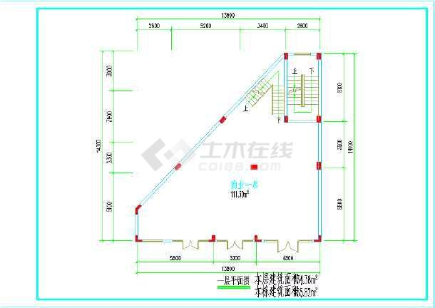 电影院建筑方案设计平面图图片3