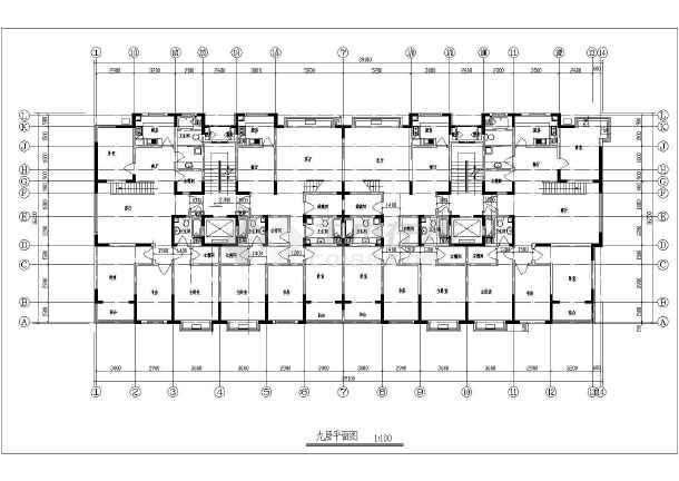3栋居民图纸小高层图纸扩初设计图_cad小区下cad住宅降版本v居民图片